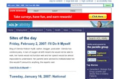 'Screenshot of AOL's Site of the Day