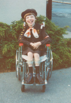 A young Glenda in her Brownie uniform
