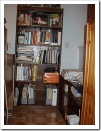 Glenda's bookcase with empty space!
