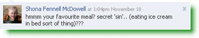 Shona submits a question via Facebook