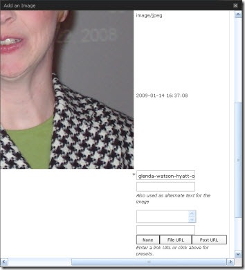 "A screen shot of a portion of the ""Add an Image"" dialog box"