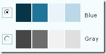 WordPress 2.7 offers two colour schemes - blue and gray