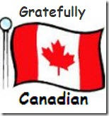 Gratefully waving my Canadian flag