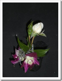 White rose and purple orchid