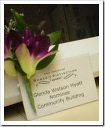 Women of Distinction - Community Building nominee: Glenda Watson Hyatt
