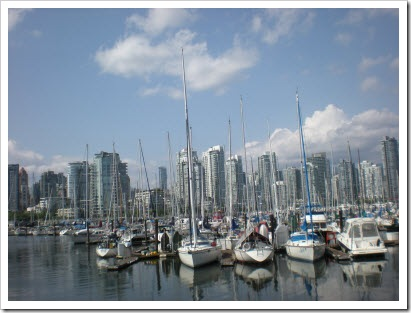 Marina on the south side of False Creek, Vancouver
