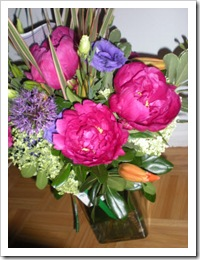 Brightly coloured flowers received from SPARC BC