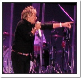 Rod Stewart singing at GM Place