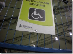 Wheelchair seating sign