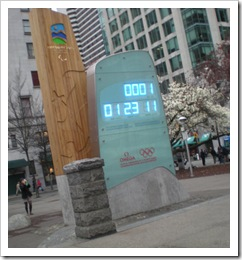 Paralympic Games countdown clock in downtown Vancouver