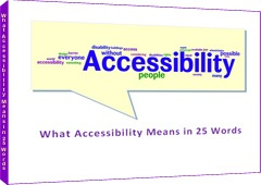 Download the ebook &quot;What Accessibility Means in 25 Words&quot;