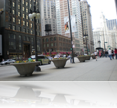 street level view of Michigan Avenue in Chicago