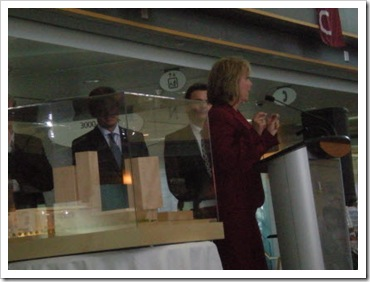Mayor Watts unveiling model of Surrey's new city hall