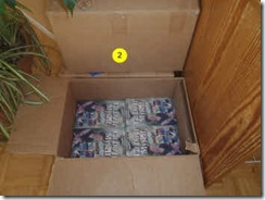 A partial full box of Glenda's book