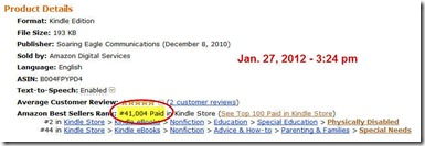 Screenshot of Amazon sales rankings