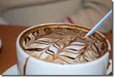 A large mug of mocha