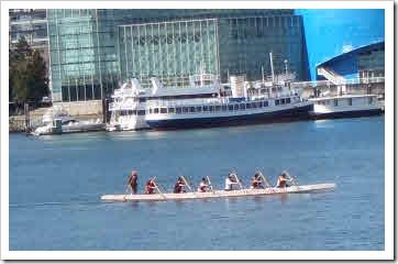 Long canoe paddlers