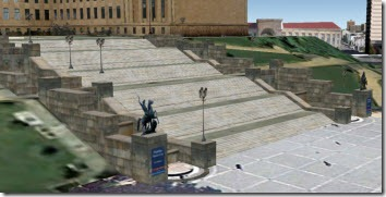 The steps at the Philadelphia Museum of Art, courtesy of Google Maps