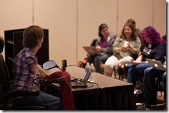 Glenda Watson Hyatt speaking at Open Web Camp IV