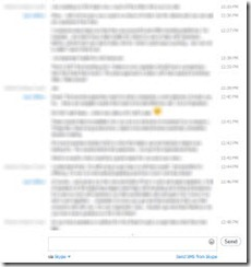 Text chat on Skype