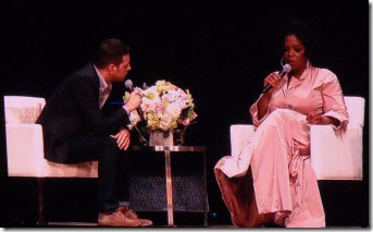 George Stroumboulopoulos interviewing Oprah