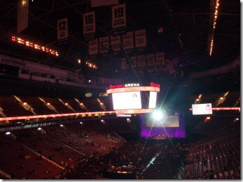 Rogers Arena before it fills up