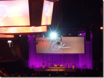 The stage is set for Oprah