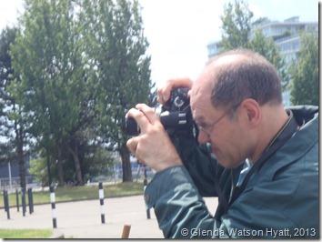 Darrell taking photos