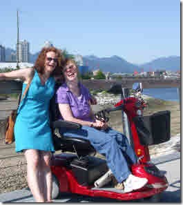 Avril and Glenda enjoying a beautiful afternoon along False Creek