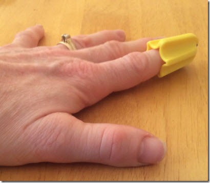 Nimble on Glenda's forefinger